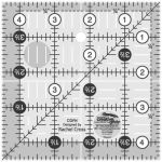Creative Grids Quilting Ruler 4 1/2in Square  CGR4 - includes Perfection Is Overrated Pattern
