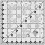 Creative Grids Quilting Ruler 9 1/2in Square  CGR9 - includes Crown Jewel Pattern