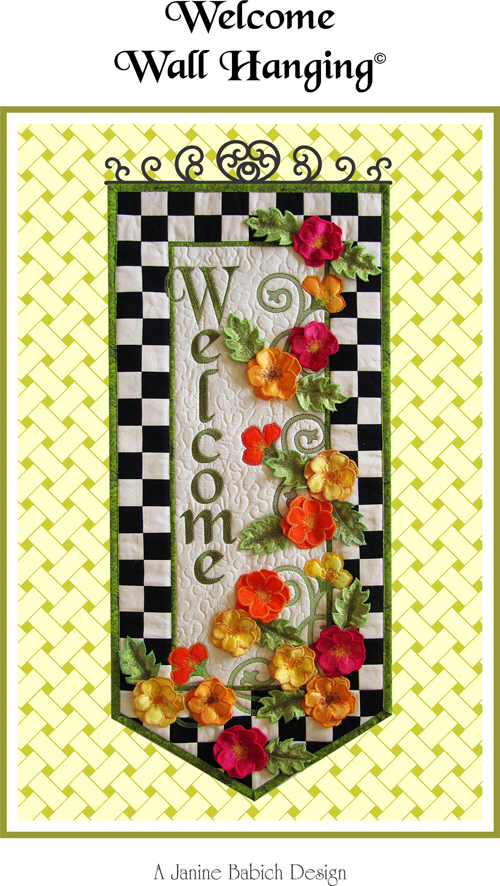 Cd Welcome Wall Hanging Machine Embroidery By Janine