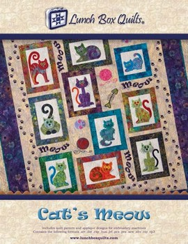 Cat's Meow By Lunch Box Quilts 897820002365 - Quilt in a Day Patterns : lunch box quilts cats meow - Adamdwight.com