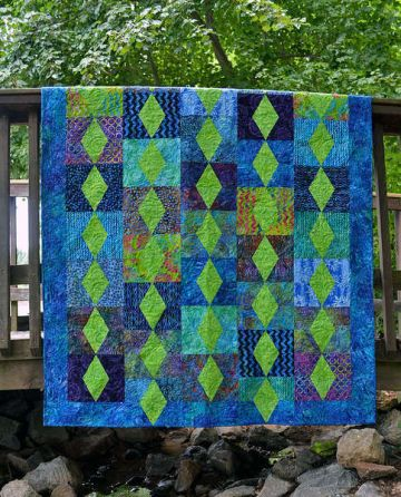 Cut Loose Press Emerald City Pattern Clpcvb002 Quilt