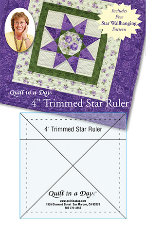 4 Inch Trimmed Star Ruler by Quilt in a Day