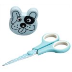 Sniff Blue Dog Scissors and Tape Measure Set