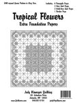 Tropical Flowers - King Size Extra Foundation Paper