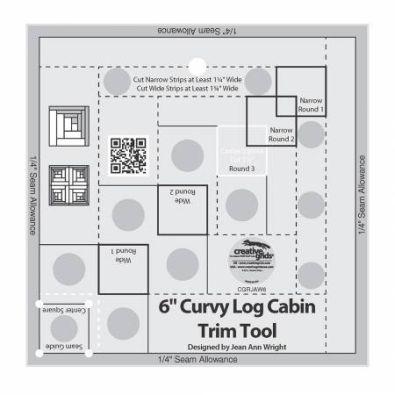 Creative Grids Curvy Log Cabin Trim Tool 6  CGRJAW6
