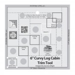 Creative Grids Curvy Log Cabin Trim Tool 6  CGRJAW6 - includes Fly Away With Me Pattern