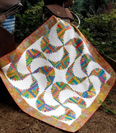 Cut Loose Press Rainbow Swirls Quilt Pattern Clpjaw032 Quilt In
