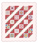 2018 - Block Party Fabric Kit - Coral Log Cabin with Reproduction Prints