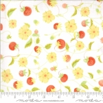MODA FABRICS - Chantilly - Strawberries And Blossoms Cloud