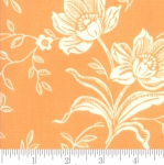 MODA FABRICS - All Hallows Eve - Fig Tree Quilts - Seasonal Halloween Woodblock Floral - Orange - Pumpkin