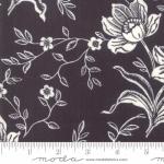 MODA FABRICS - All Hallows Eve - Fig Tree Quilts - Seasonal Halloween Woodblock Floral - Black - Midnight