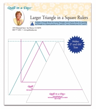 Larger Triangle in a Square Ruler by Quilt in a Day