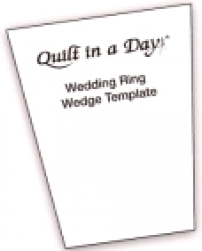 Wedding Ring Wedge Template By Quilt In A Day Rulers