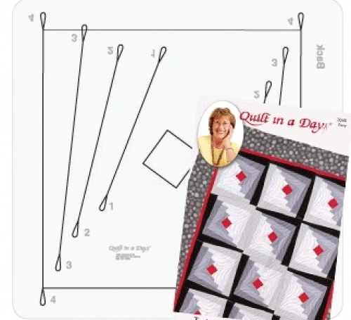 2 1/2 in Strip Wonky Ruler by Quilt in a Day