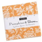 Pumpkins Blossoms Charm Pack by Fig Tree And Co. Moda Precuts