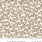 MODA FABRICS - Pumpkins Blossoms by Fig Tree And Co - Deer Forest - Pebble