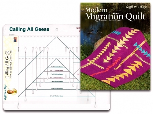 Calling All Geese Includes Modern Migration by Quilt in a Day