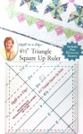 4.5 Triangle Square Up Ruler by Quilt in a Day