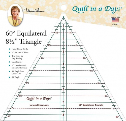 60 degree 8.5 Inch Triangle Ruler by Quilt in a Day