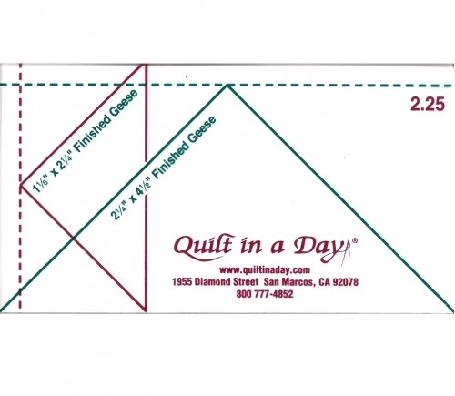 225 Flying Geese Ruler No Instructions By Quilt In A Day Quilt