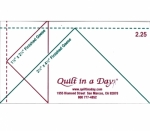 2.25 Flying Geese Ruler by Quilt in a Day