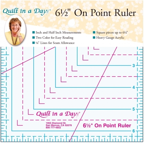 6 1/2 On Point Ruler by Quilt in a Day