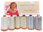 Quilt in a Day Neutrals by Eleanor Burns - Aurifil Thread