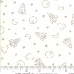 MODA FABRICS - Soft Sweet Flannel - Cream/Gray Outer Space - FLANNEL