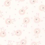 MODA FABRICS - Soft Sweet Flannel - Cream/Pink Lions - FLANNEL