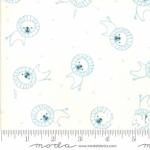 MODA FABRICS - Soft Sweet Flannel - Cream/Blue Lions - FLANNEL