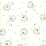 MODA FABRICS - Soft Sweet Flannel - Cream/Gray Lions - FLANNEL