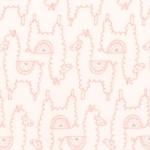MODA FABRICS - Soft Sweet Flannel - Pink Llamas - FLANNEL