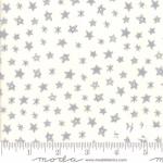 MODA FABRICS - Soft Sweet Flannel - Cream/Gray Stars - FLANNEL