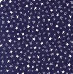 MODA FABRICS - Soft Sweet Flannel - Navy/White Stars - FLANNEL