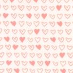 MODA FABRICS - Soft Sweet Flannel - Cream/Pink Hearts - FLANNEL