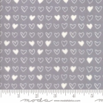 MODA FABRICS - Soft Sweet Flannel - Gray/White Hearts - FLANNEL