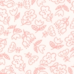 MODA FABRICS - Soft Sweet Flannel - Cream/Pink Floral - FLANNEL