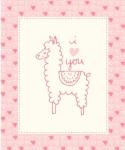 MODA FABRICS - Soft Sweet Flannel - Pink/Cream Llama - FLANNEL - PANEL - PL123