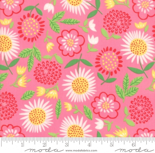MODA FABRICS - Best Friends Forever - Pink Floral