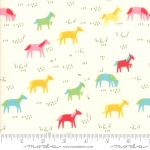 MODA FABRICS - Best Friends Forever - Horses Cream