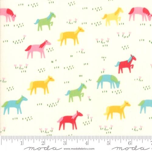 MODA FABRICS - Best Friends Forever - Horses Cream - #1834
