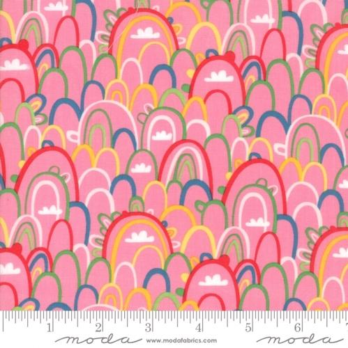 MODA FABRICS - Best Friends Forever - Rainbows Pink - #1813