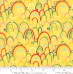 MODA FABRICS - Best Friends Forever - Rainbows Yellow