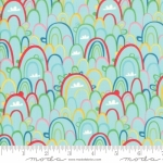 MODA FABRICS - Best Friends Forever - Rainbows Aqua