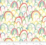 MODA FABRICS - Best Friends Forever - Rainbows White