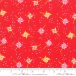 MODA FABRICS - Best Friends Forever - Pinwheels Red