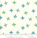 MODA FABRICS - Best Friends Forever - Aqua Pinwheels Cream