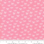 MODA FABRICS - Best Friends Forever - White Bows Pink