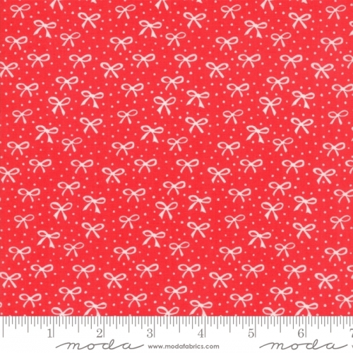 MODA FABRICS - Best Friends Forever - White Bows Red - #1827