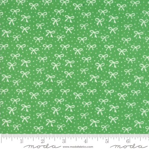 MODA FABRICS - Best Friends Forever - White Bows Green - #1826
